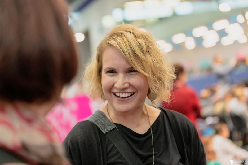 Christina Auer bei einem Interview auf der Buch Wien 2018
