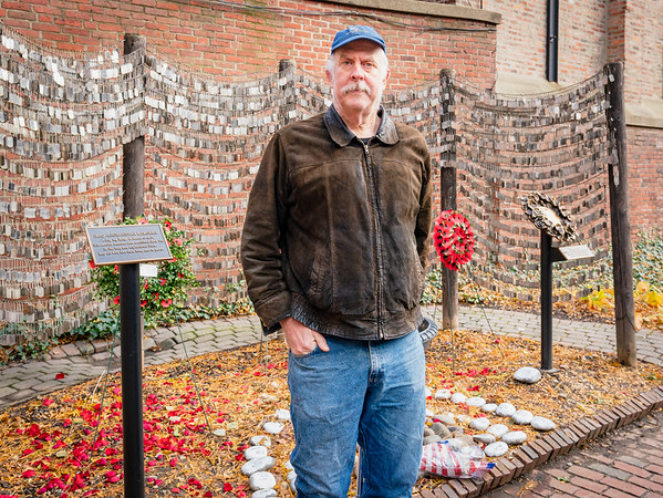 Bruce Brooksbank has maintained the Old North Memorial Garden for several years