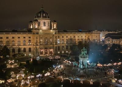 Blick vom Dach des Naturhistorischen Museums Wien