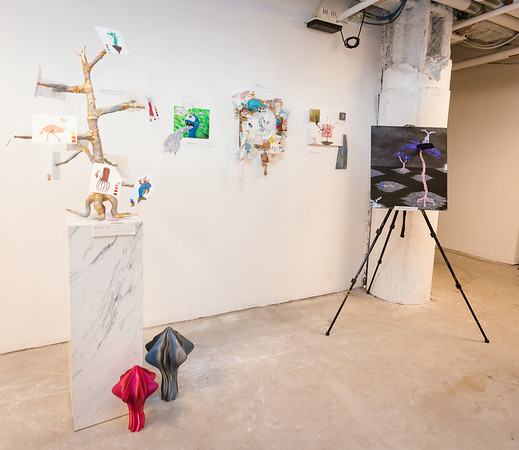 Drawings, sculpture and music by Justice McDaniel