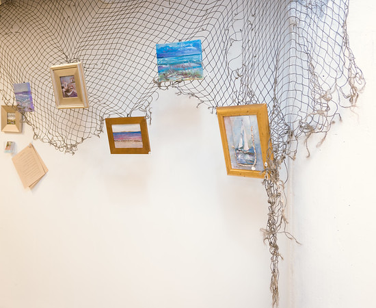 Artwork on display at the pop-up museum