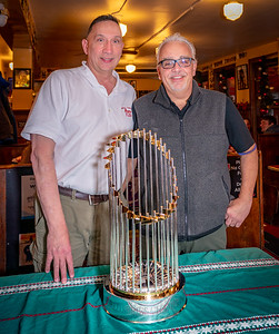 Ron and Richie with the 2018 Boston Red Sox World Series ChampionshipTrophy
