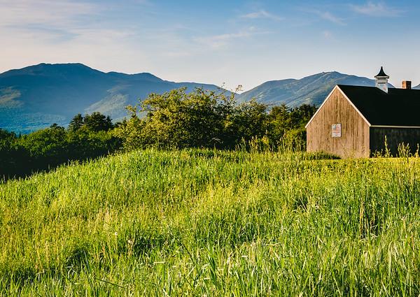 Farm field in New Hamphire's White Mountains