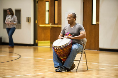 African Dance Class by Charlotte Ballet @ 1st Baptist Church West 1-28-17 by Jon Strayhorn