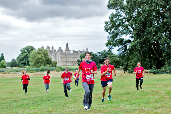 Burghley House 10K Run:  Promo Shoot for the British Heart Foundation