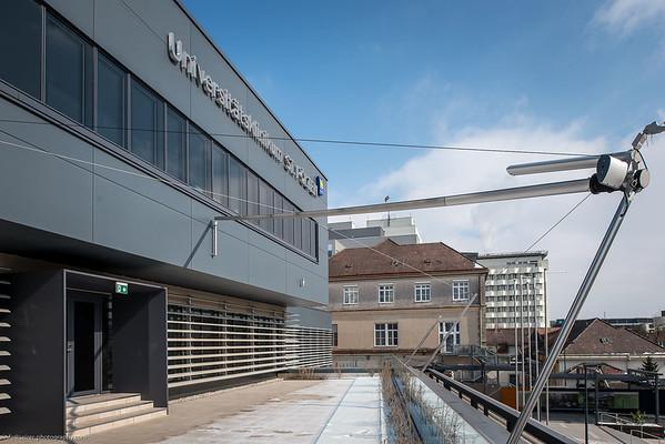 Universitätsklinik St. Pölten vor der Eröffnung