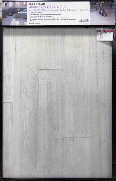 Soft Sugar Wood Plank Porcelain Tile