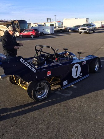 "Dave Arken driving Mike Bachman's ""Fox 2 Dubury"" at the January 13-14, 2018 Majors at Auto Club Speedway."