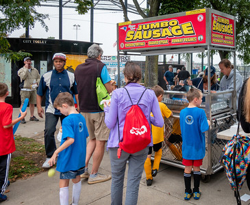 Sausage food truck at NEAD Family Day