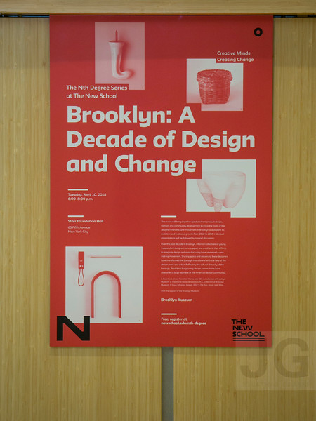 BROOKLYN: A DECADE OF DESIGN AND CHANGE<br /> Held Starr Foundation Hall, Room UL102, University Center<br /> NYC, USA - 2018.04.10<br /> Credit: Christopher Ernst