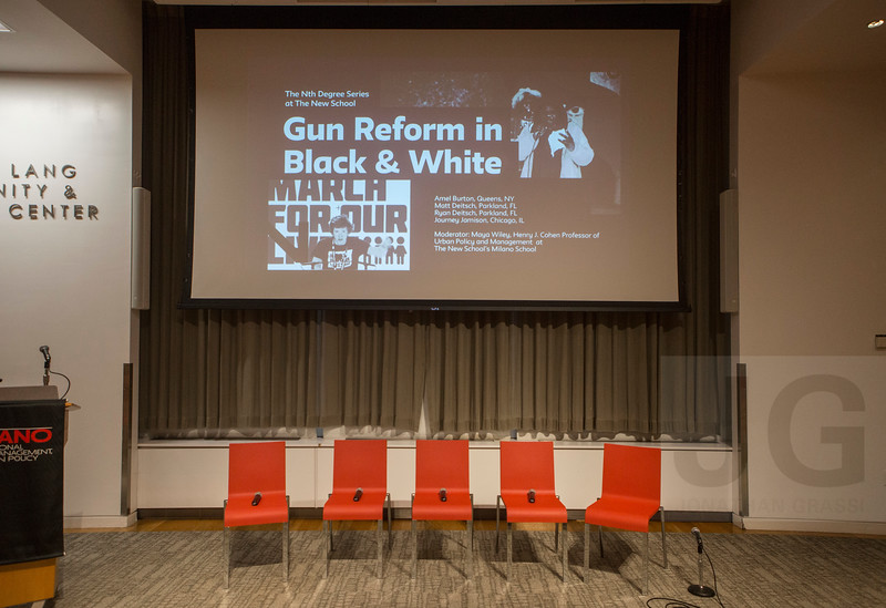 The Henry Cohen Lecture Series & The Office For Social Justice Presents: Gun Reform in Black & White: Student Activism and #NeverAgain<br /> NYC, USA - 2018.04.27<br /> Credit: Christopher Ernst/Grassi