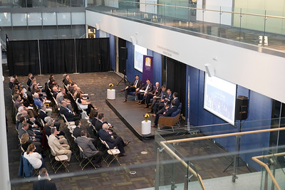 The 2nd 'Fenimore Talks', presented by Fenimore Asset Management, featuring Angio Dynamics, at the Standish Living Room of Massry Center for Business at the University at Albany on Friday, October 12, 2018. (photo by Patrick Dodson)