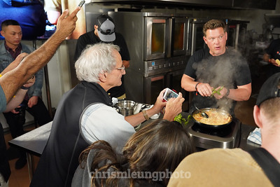 "8/14/19 Sony Kando 3.0  in Sunriver, OR. ""Lights, Camera, Appetite with Tyler Florence. Photographic legend, David Burnett goes front and center with his iPhone to capture Tyler Florence.  ©Chris M. Leung Photography,"