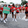 Don Knight | The Herald Bulletin<br /> Anderson High School's cheer leaders walk in the Black Expo parade on Saturday.