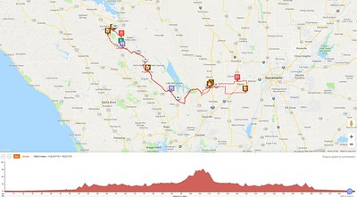 DBC Cobb Mtn 300k Brevet Route