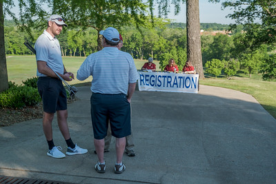 Sponsors gathered for the annual D & F Golf Tournament to support providing food for those in need.