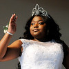 Don Knight | The Herald Bulletin<br /> Ariana Sanglton waves as she is introduced during the Annual Debutante Cotillion Beautillion Militaire's Scholarship Ball at Park Place Church of God on Saturday.