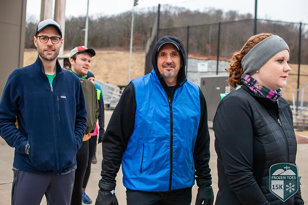 Despite the cold, it was a beautiful day for a trail run with ice covered trees surrounding the runners as the ran through Mt. Kessler for the Frozen Toes 15k put on by Fayetteville Parks and Recreation.