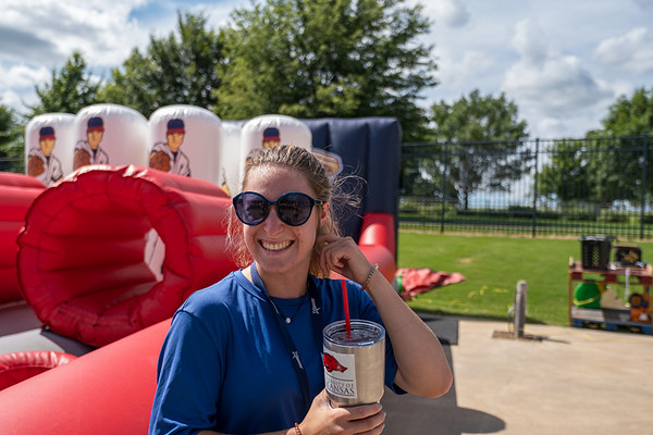 The USSSA National Softball Tournament kicked off with the Opening Ceremonies at Arvest Ballpark on Tuesday evening featuring music provided by School of Rock, fun activities, team parade, and the opening pitch by Bentonville Mayor, Stephanie Orman.
