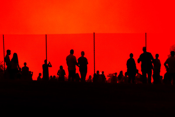 Spectators in Silhouette