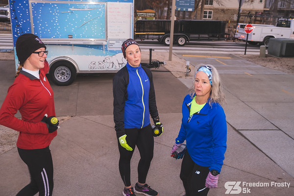 The town was layered with frost on the chilly December morning as runners ran through the streets of Bentonville, in their best Christmas attire, for the Freedom Frosty 5k.
