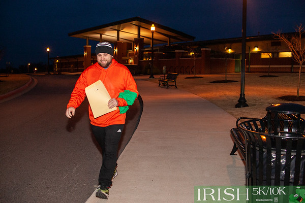 Runners gathered at the Bentonville Community Center to brighten up the cold, cloudy morning as they ran the second race in the 2019 Run Bentonville Race Series, Irish 5k/10k.