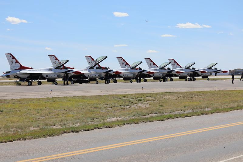 USAF Thunderbirds at Kirtland AFB, March 18, 2019