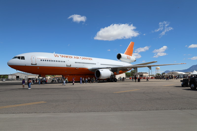 A converted DC-10 that is now used for fighting forest fires