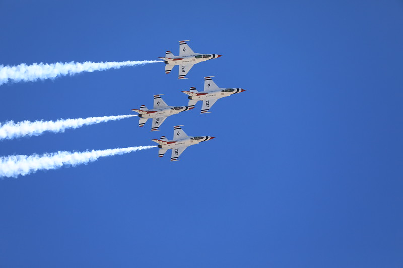 USAF Thunderbirds at Kirtland AFB, March 18, 2019