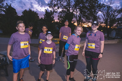 A stunning sunrise and light rain greated runners participating in Larry's Run 5k and 8 mile.