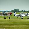 P-51D Mustang and P-40K Warhawk