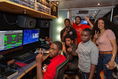 2019_10_22, Apple, Bus, Genelec, Grammy Music Education Coalition, Interior, Joshua Greene, Kristal Oliver, Logic, PA, Philadelphia, Strawberry Mansion High School, Student Session, Tytewriter