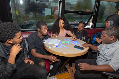 2019_10_22, Bus, Interior, PA, Philadelphia, Strawberry Mansion High School, Student Session, Kristal Oliver, Tytewriter