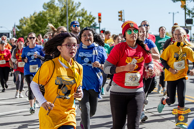 Witches and Wizards ran through the streets of Downtown Tulsa for the first Wizarding Run, consisting of a 1 mile fun run and 5k with wizarding themed finish line festivities.