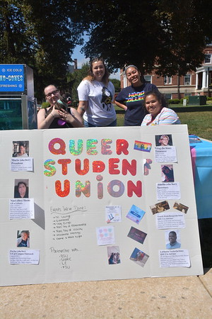 Student clubs and organizations tabling on the quad