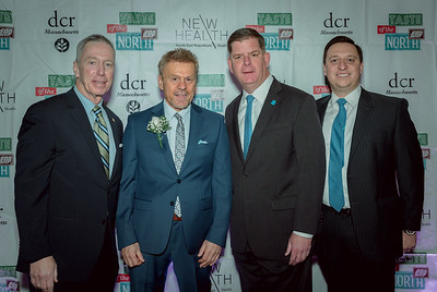 (L-R) US Congressman Stephen Lynch, NEW Health CEO James Luisi, Boston Mayor Marty Walsh and Mass. State Senator Joe Boncore