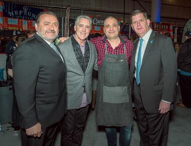 (L-R) Donato Frattaroli, Billy Costa, Pino Maffeo and Mayor Marty Walsh
