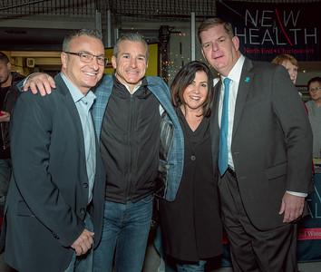 (L-R) Sal LaMattina, Stephen Passacantilli, Lisa LaMattina and Mayor Marty Walsh