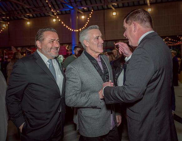 Mayor Marty Walsh (right) talks with Billy Costa (NESN's Dining Playbook) and TONE Co-host Donato Frattaroli (Il Molo)