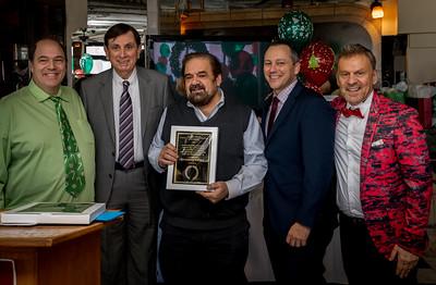 Honoree Filippo Frattaroli with (L-R) John Romano, Ted Tomasone, Rep. Michlewitz and NEW Health Jim Luisi