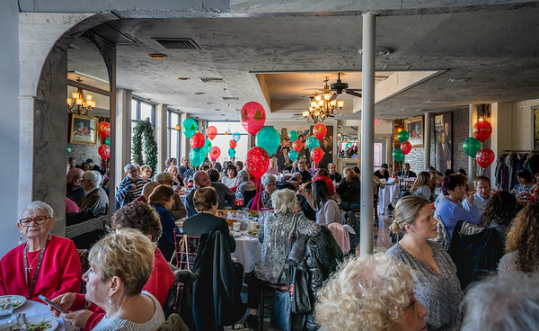 Packed hiouse for the Christmas Fund Luncheon at Filippo's Ristorante