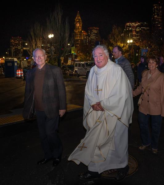 Fr. Joy (right) and Jimmy Martorano of St. Joseph Society