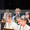 Roscoe's Liam Haering holds his trumpet while awaiting instruction from Junior High Band Conductor Pauline Emilson.