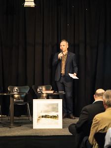 """Maik Novotny bei der Buchpräsentation """"Karl Schwanzer Spuren"""""""
