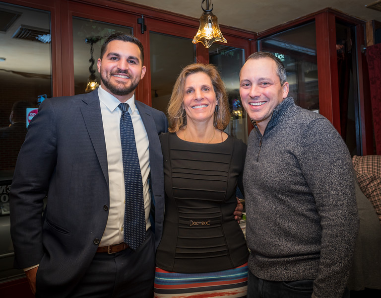 State Rep. Aaron Michlewitz (right) with CityFeast host, Carla Agrippino Gomes (center) and son David Gomes (left)