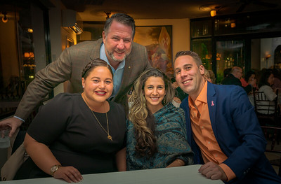 Event committee members, Jason Aluia, Maria Lanza, Laura Santiago and John Pregmon
