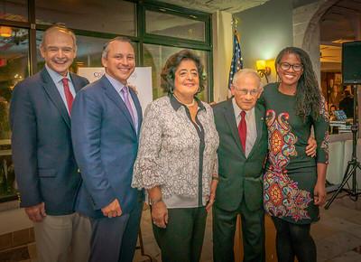 Local officials congratulate the Giangregorio family