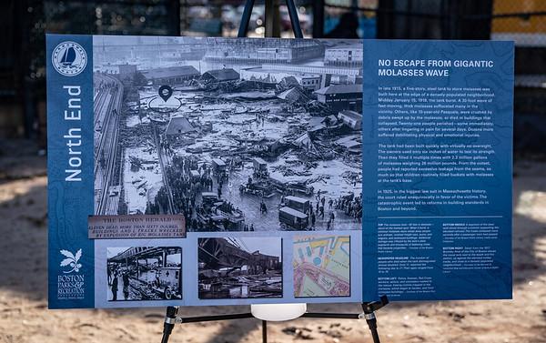 Future Harborwalk Interpretive Signage on the Great Molasses Flood
