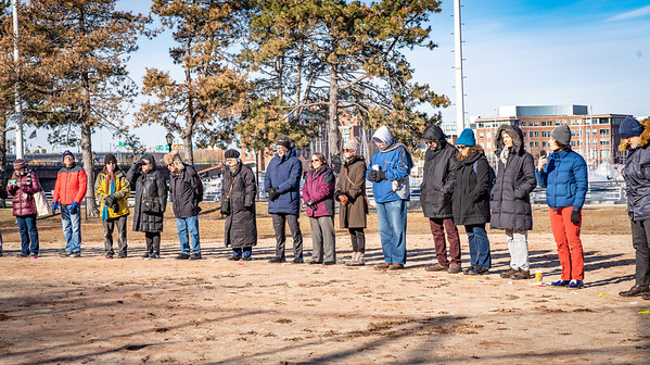 Residents, dignataries and officials came out to commemorate the 100th Anniversary of the Great Molasses Flood.