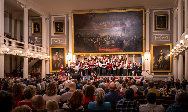 NEMPAC, Boston Landmarks Orchestra, One City Choir and NEMPAC's Youth Choir conducted by Christopher Wilkins and, for the first time, performed in The Great Hall, Faneuil Hall.
